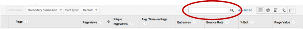 Google Analytics Search Feature for SEO